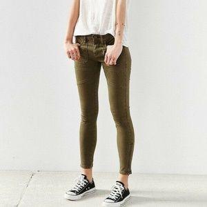 "BDG Jefferson Olive Green Skinny Jeans 27"" Cargo"